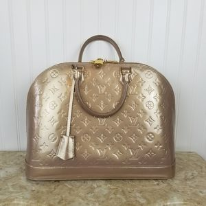 Louis Vuitton monogram Vernis Alma GM beige LARGE